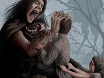 нападение ведьмы
